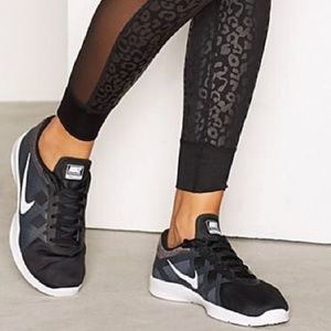 Nike black and white training lunar lux sneakers